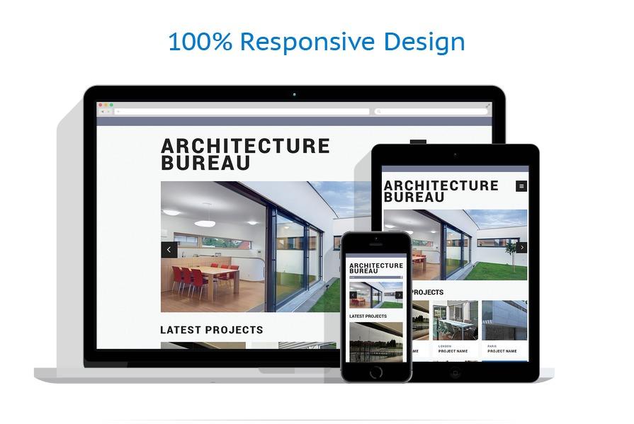 Sablon responsive de | Arhitectura | ID: 487
