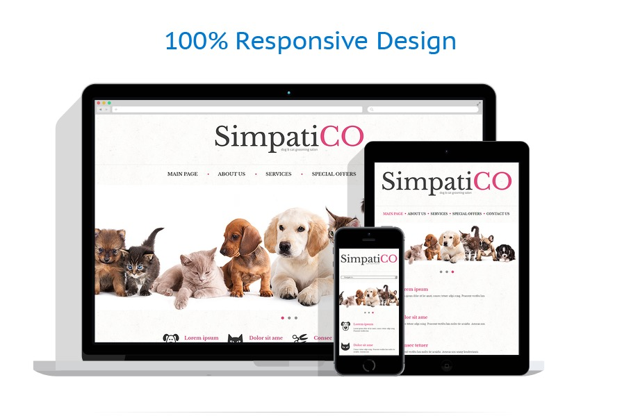 Sabloane responsive de website | Animale | ID: 515
