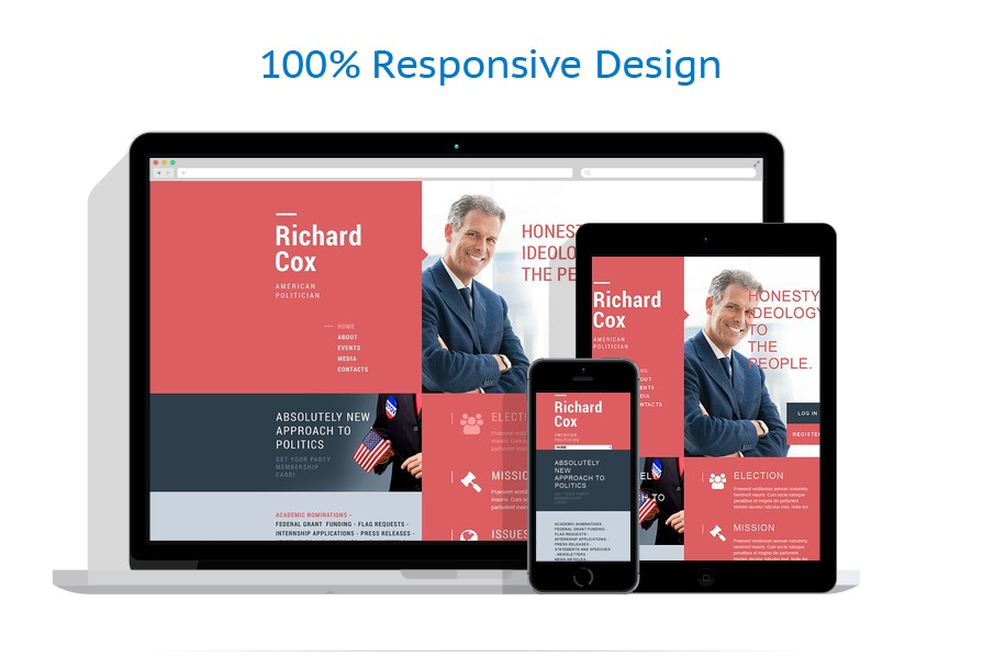 responsive template | Politics | ID: 605