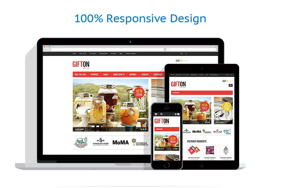 responsive template   Gifts   ID: 613