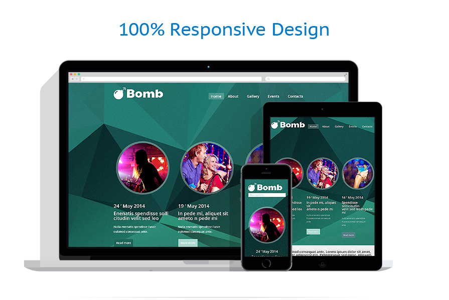 responsive template | Night Club