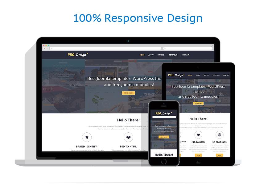 Sablon responsive de   Web design   ID: 627