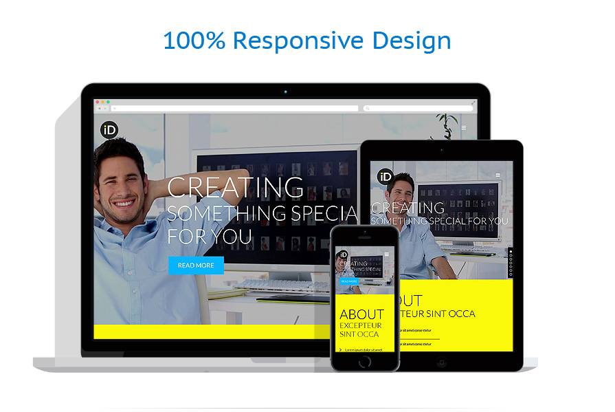 Sablon responsive de | Web design | ID: 674