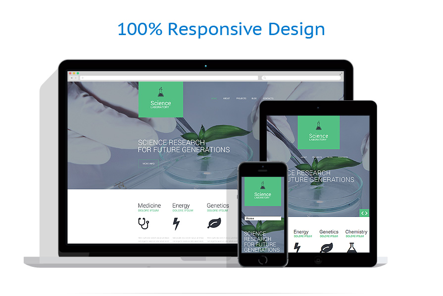 responsive template | Science | ID: 691