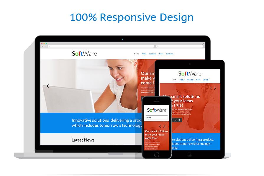 Sablon responsive de   Software   ID: 697