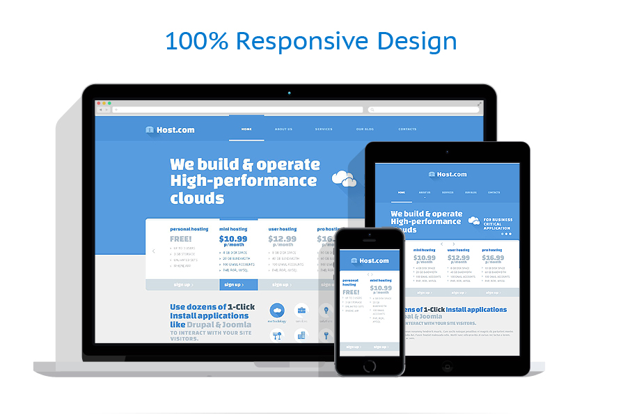 responsive template | Hosting | ID: 714