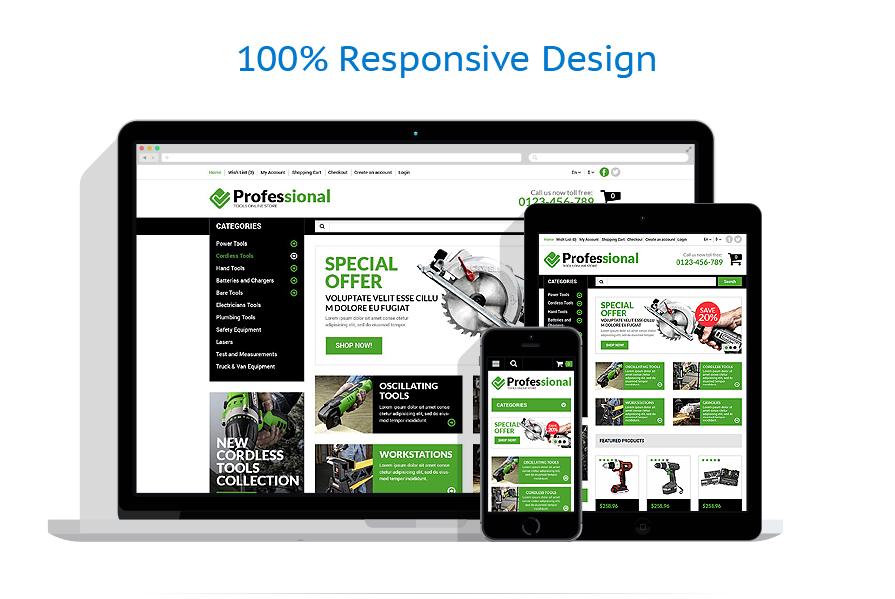 responsive template | Tools & Equipment | ID: 725