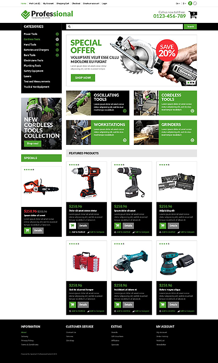 template | Tools & Equipment | ID: 725