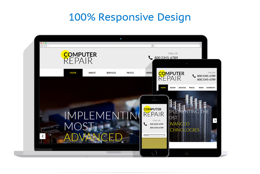 responsive template | Computers | ID: 744