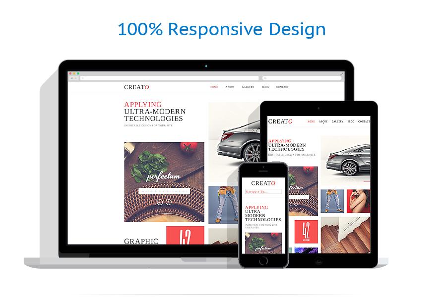 Sablon responsive de   Web design   ID: 768