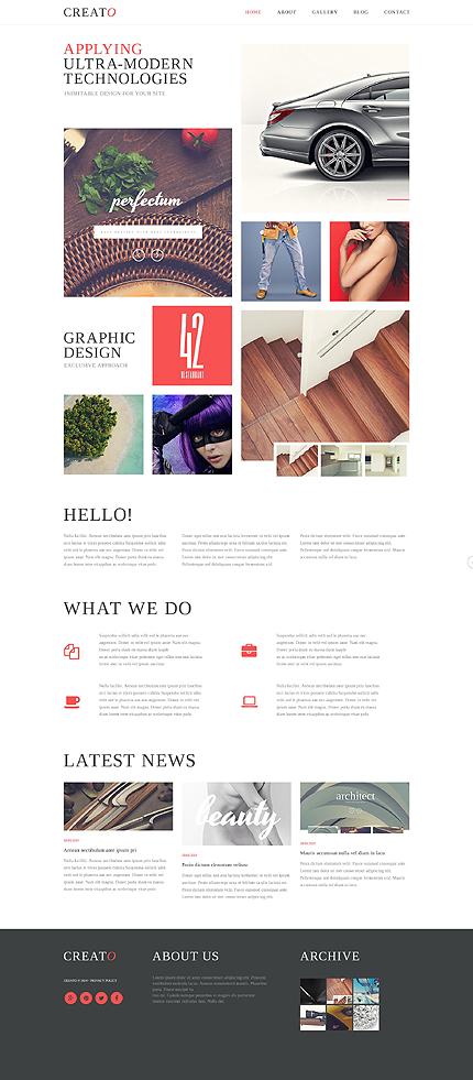 Sablon de   Web design   ID: 768