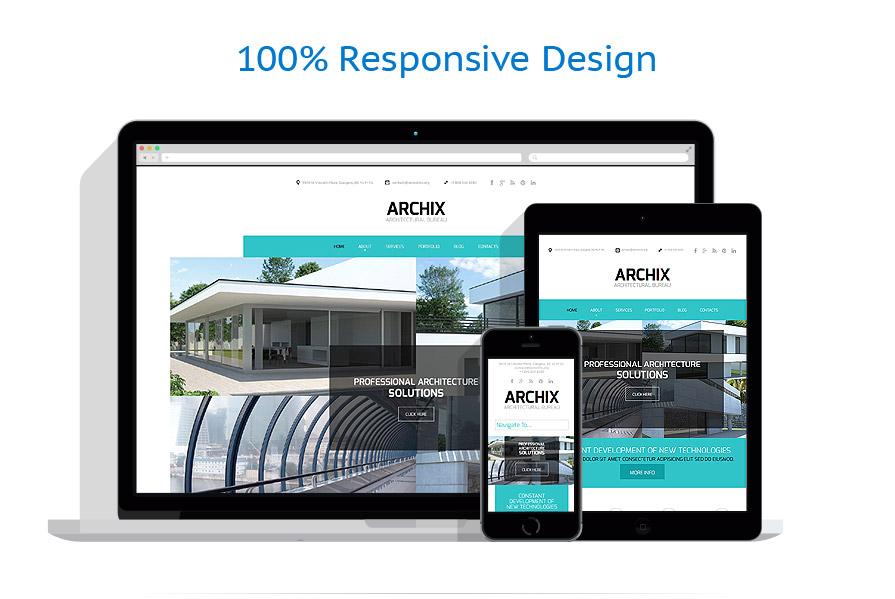 Sablon responsive de | Arhitectura | ID: 792