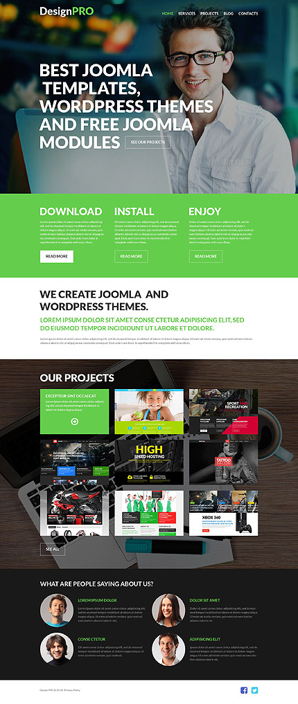 Sablon de   Web design   ID: 796