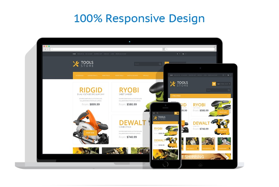 Responsive online store templates | Tools & Equipment