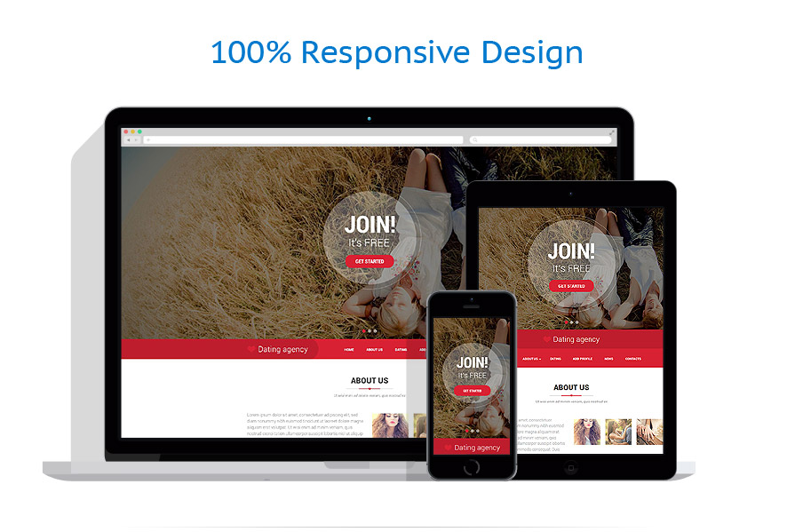 responsive template | Dating