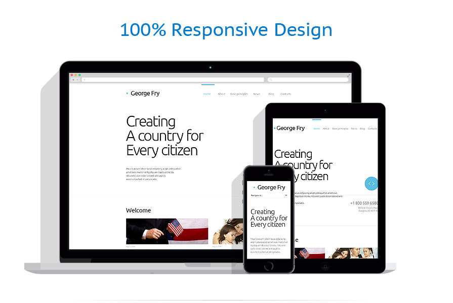 Responsive website templates | Politics