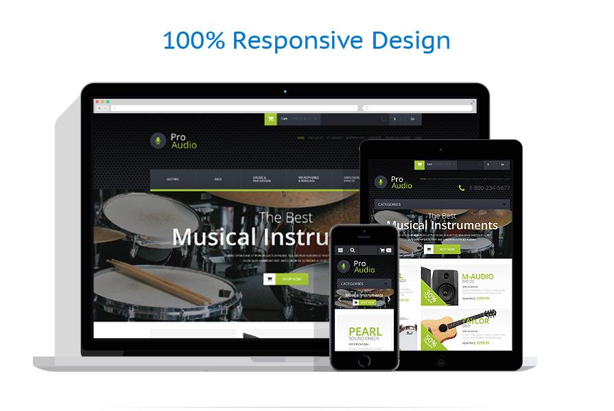 responsive template | Music | ID: 850
