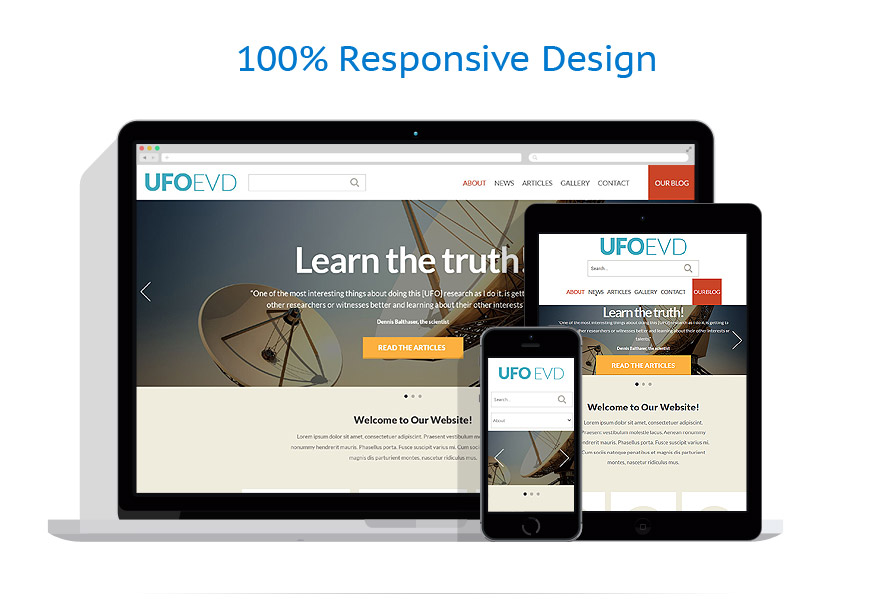 responsive template | Science | ID: 855