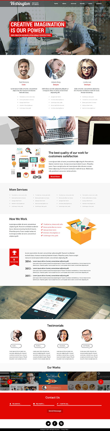 Sablon de | Web design | ID: 865