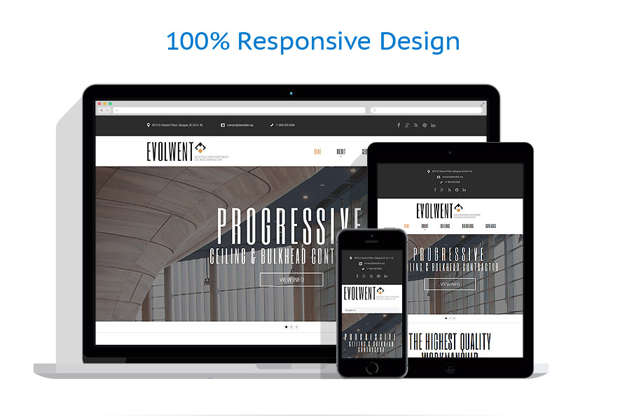 Sablon responsive de | Arhitectura | ID: 875