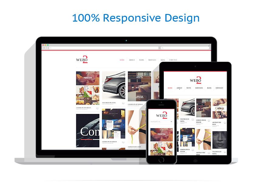 Sablon responsive de | Web design | ID: 882