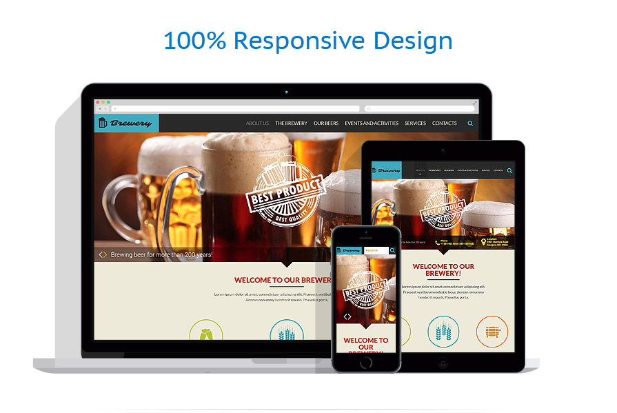 Responsive website templates | Brewery Templates