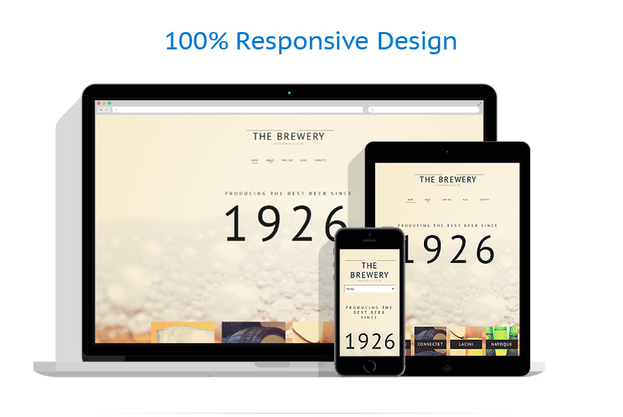 responsive template | Brewery Templates | ID: 905