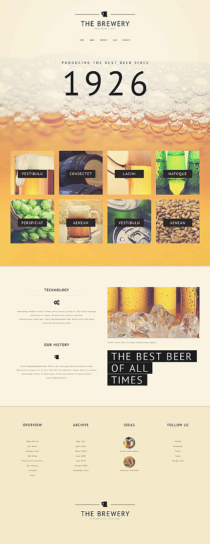 template | Brewery Templates | ID: 905