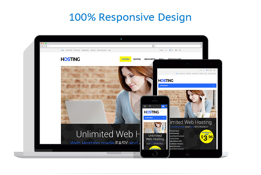responsive template | Hosting | ID: 911