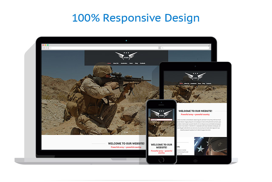 responsive template | Military | ID: 956