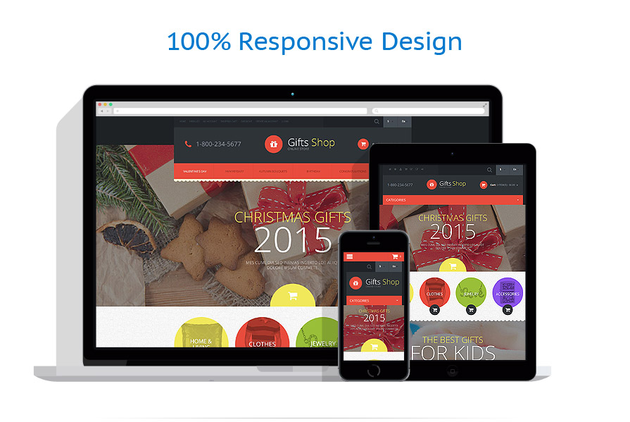 responsive template | Gifts | ID: 970