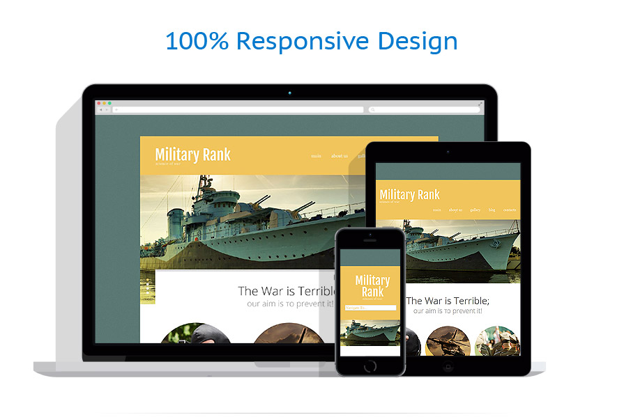 responsive template | Military | ID: 979